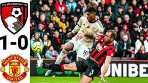 Bournemouth vs Manchester United 1-0 All Goalss Highlight 2019